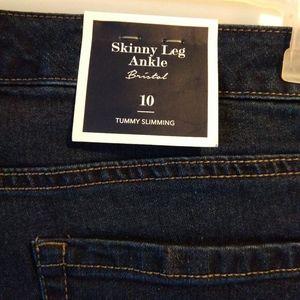 Charter Club Jeans - Charter Club Bristol Skinny Ankle Gold Stripe Jean